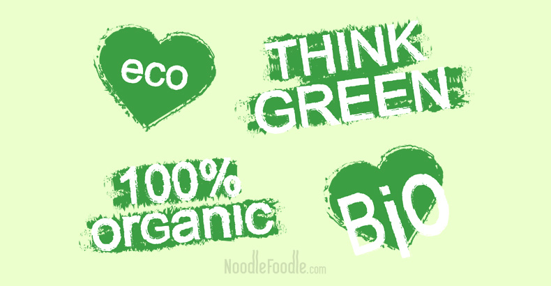 eco, THINK GREEN, 100% organic, Bio